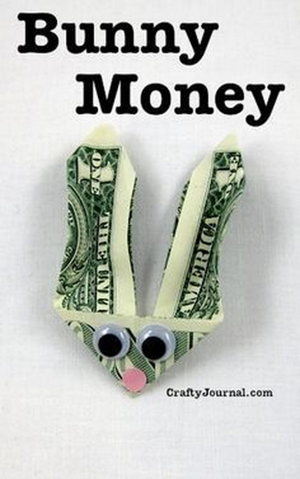 20 last minute diy easter ideas hative easy and creative bunny money gift for teens and tweens negle Image collections