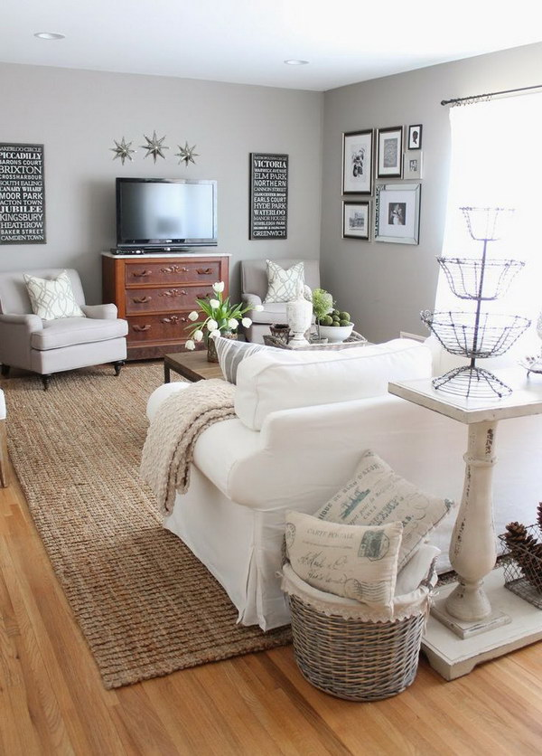 Pretty living room colors for inspiration hative for Setup for small living room
