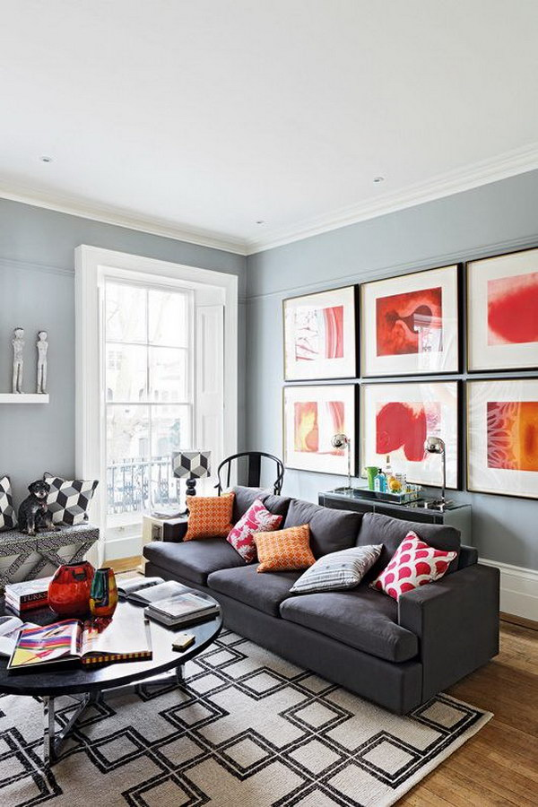 Gray Painting Living Room