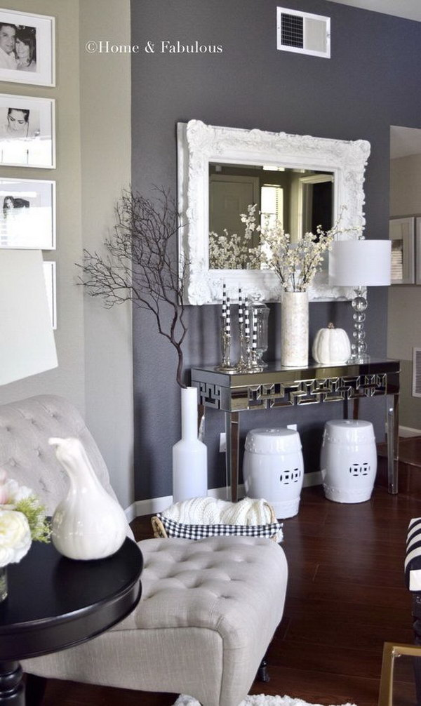 Gray Painting Wall Living Room