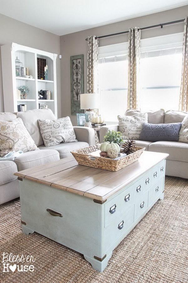 Greige Beige Painted Living Room