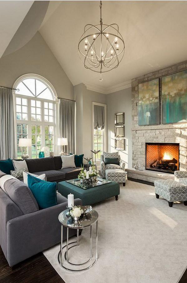 Beige Painting Living Room.