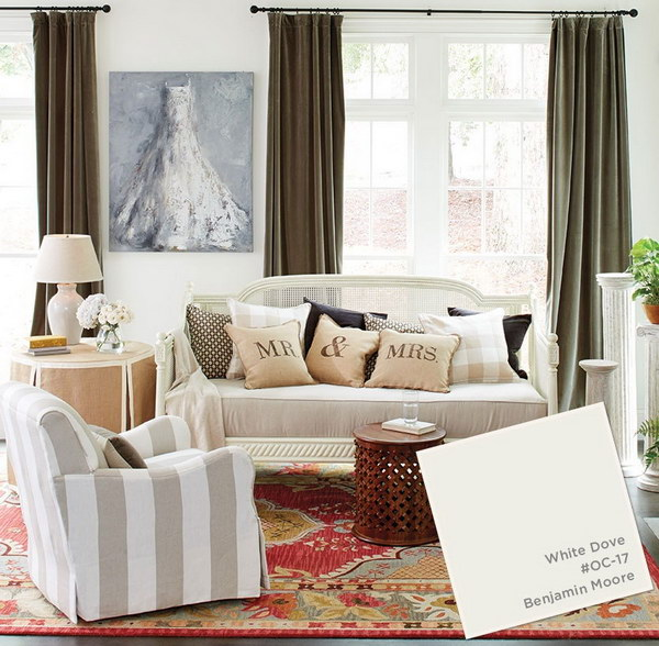 White Dove Paint Color For Living Room