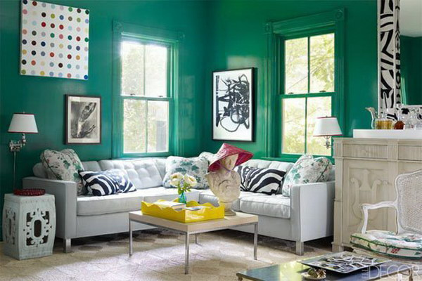 Emerald Green Living Room.