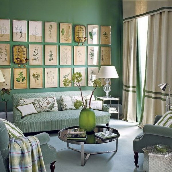 Pretty living room colors for inspiration hative - Pretty green rooms ...