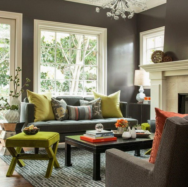 Pretty Living Room Colors Adorable With Grey Living Room Wall Colors Picture