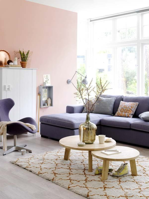 Blush Pink Painting Living Room.