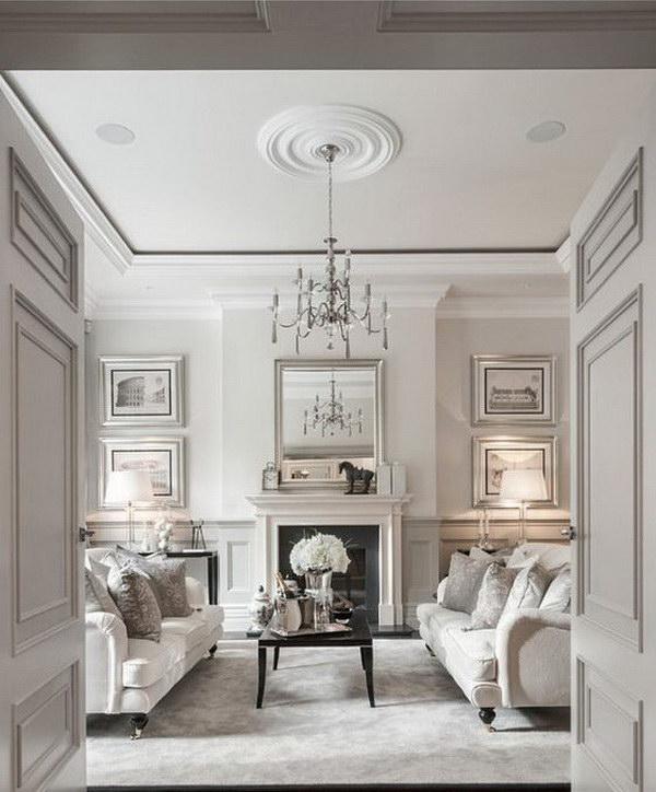 White Painting Living Room.