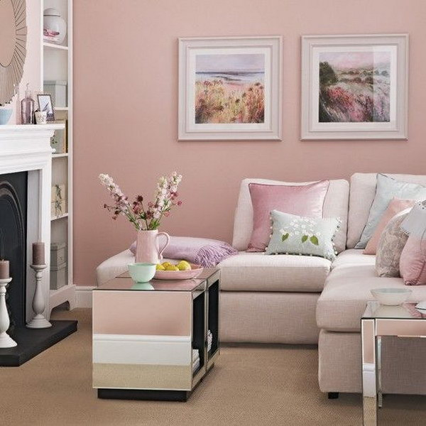Candy Floss Pink Living Room