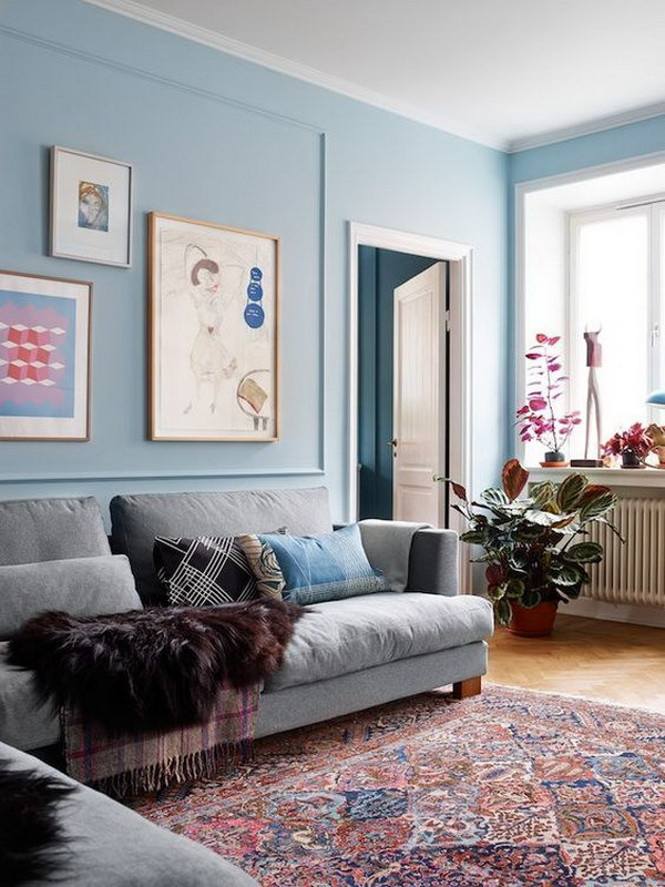 Pale Blue Living Room