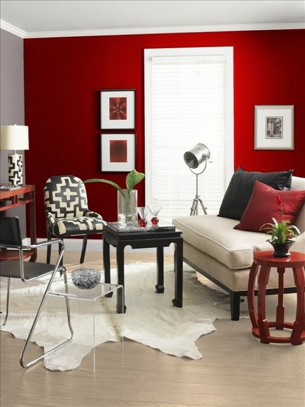 Red Painting Living Room.