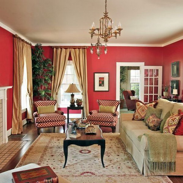 Pretty Living Room Colors Gorgeous Of Traditional Red Living Room Wall Ideas Images