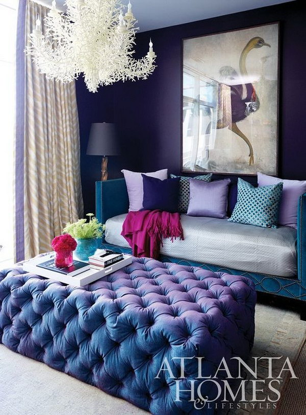 Pretty living room colors for inspiration hative Purple living room color schemes