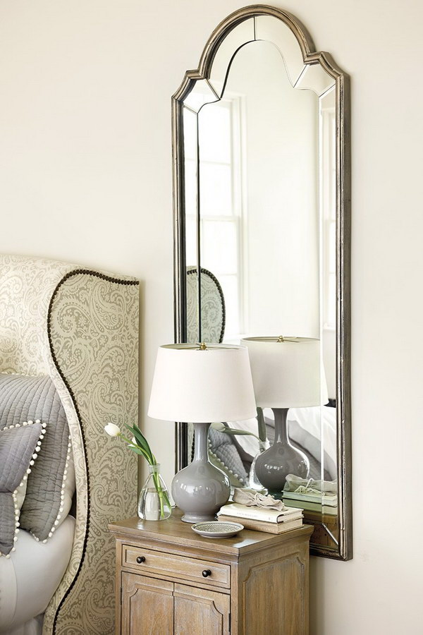 Bella Mirror with Classic Bonnet-top Silhouette.