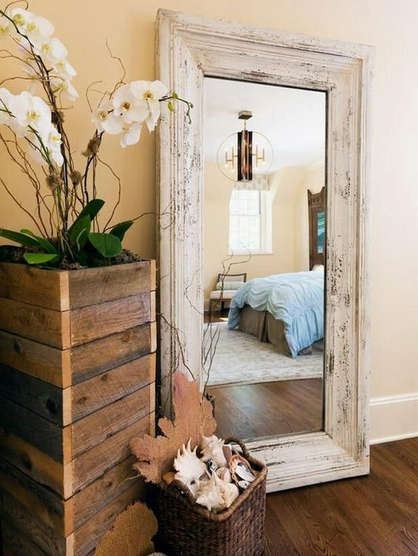 diy rustic wood framed full length mirror 7 home dcor with mirrors - Home Decor Mirrors