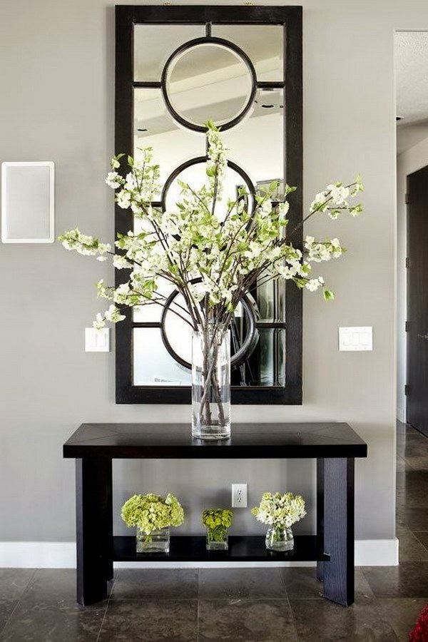 Pottery Barn Style Mirror for Entryway Decoration.