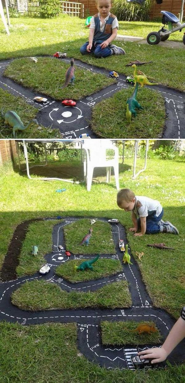 Fun and easy diy outdoor play areas for kids hative for Play yard plans