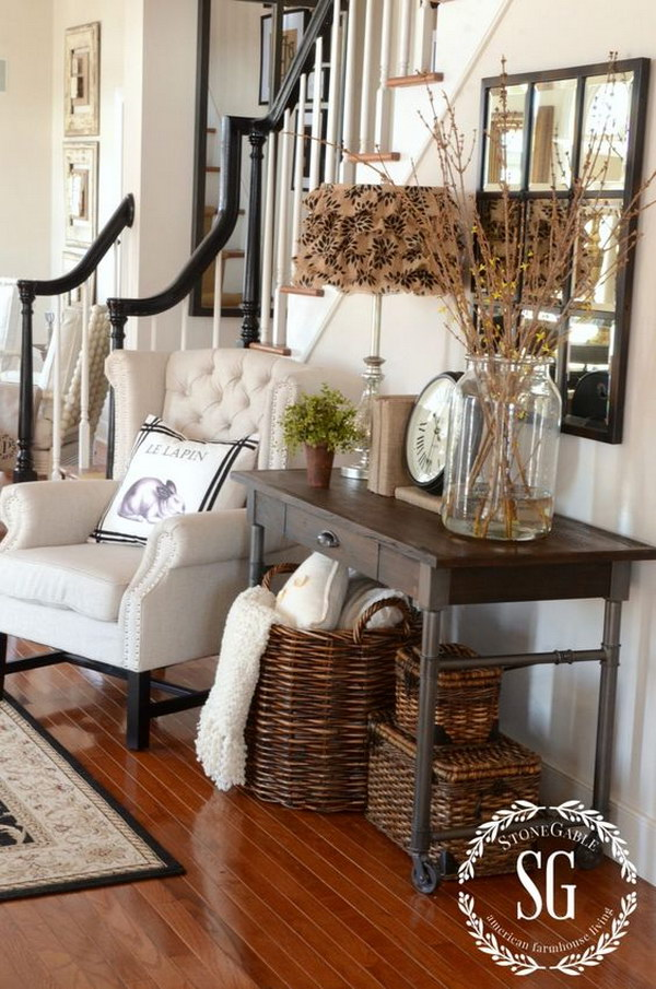 entry way decor. Open Layout Rustic Decor Enchanting Farmhouse Entryway Decorations For Your Inspiration  Hative
