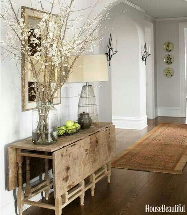 Rustic Chic Entryway With Refined Decor Style.