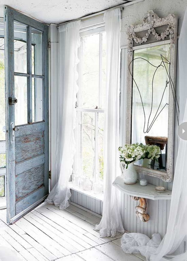 Beautiful Shabby Chic Entry with a French Twist.