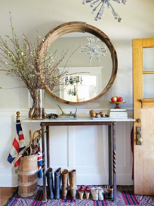 Add Rustic Charm with a Mirror.