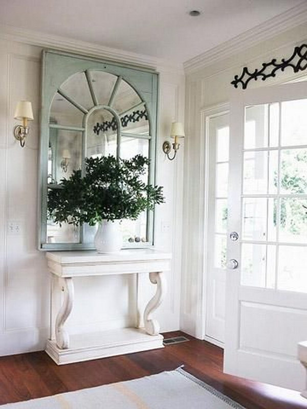 Enchanting farmhouse entryway decorations for your for Decorating your foyer