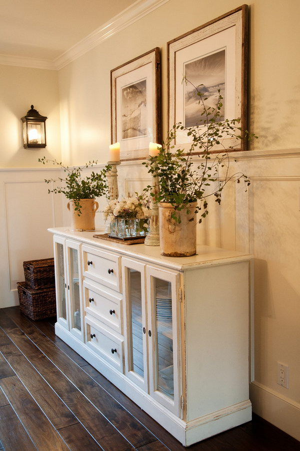 Enchanting farmhouse entryway decorations for your for Entryway dining room ideas