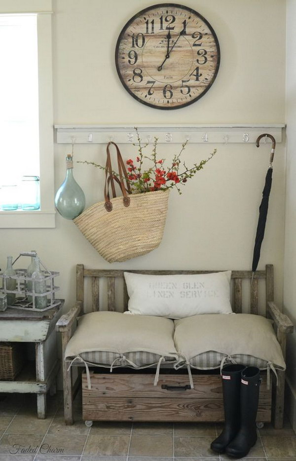 entry way decor. Shabby Chic Decor With An Unexpected Twist Enchanting Farmhouse Entryway Decorations For Your Inspiration  Hative