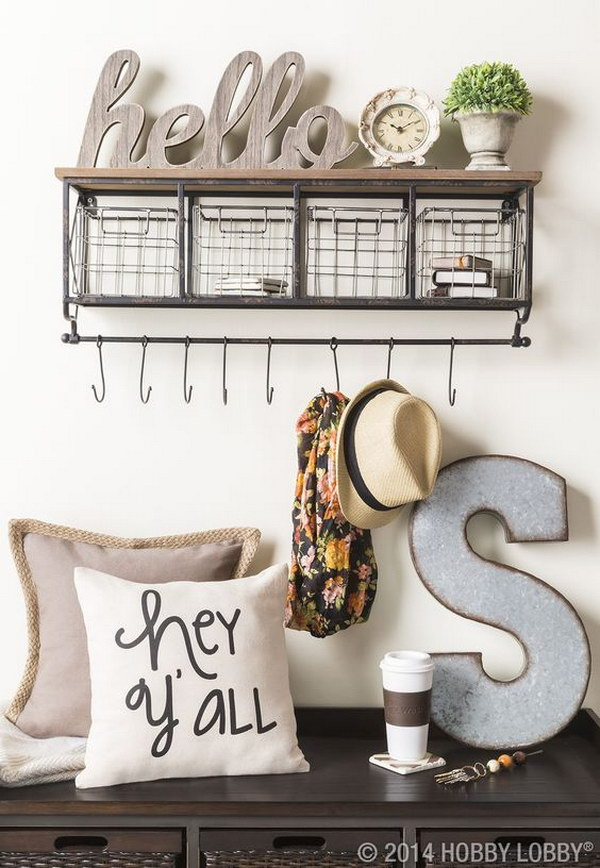 Entryway Wall Decor Pinterest : Enchanting farmhouse entryway decorations for your
