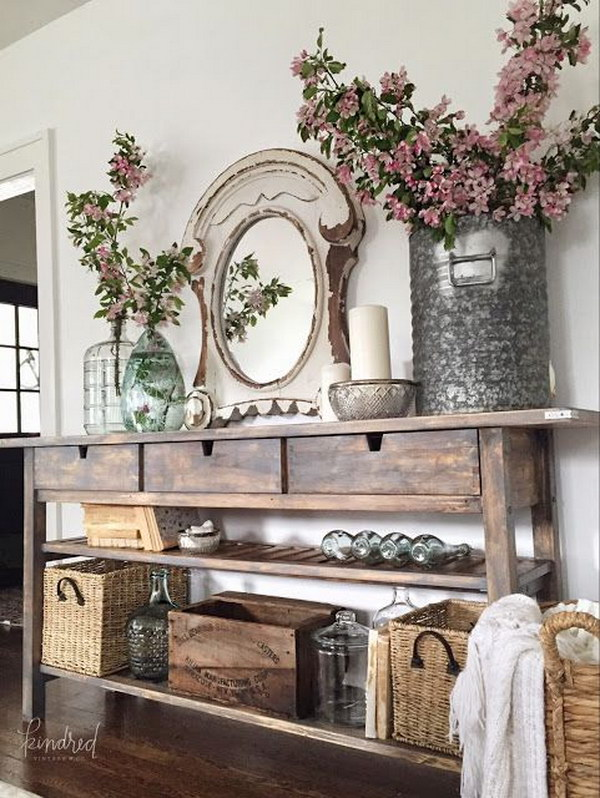 Shelves White Walls And Entry Ways: Enchanting Farmhouse Entryway Decorations For Your Inspiration