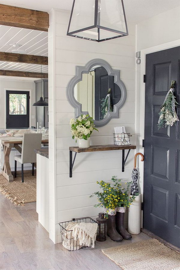 Foyer Inspiration Ideas : Enchanting farmhouse entryway decorations for your