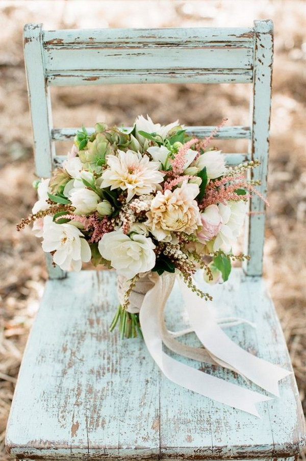 DIY Rustic Vintage Wedding Bouquet