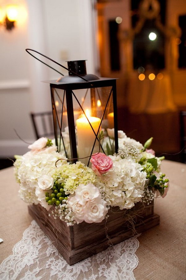 Rustic Lantern Reception Bouquet