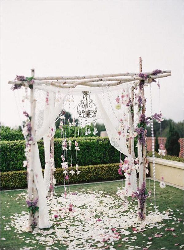 Rustic Birch Tree Wedding Arch