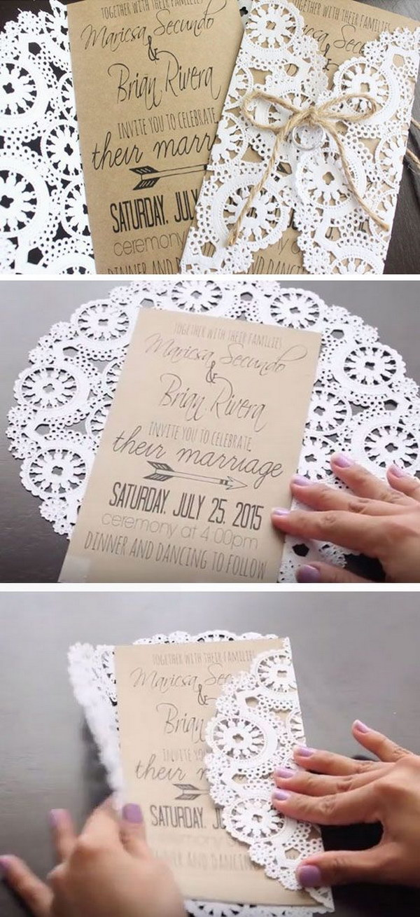 diy wedding invitations 50 budget friendly rustic real wedding ideas hative 3619