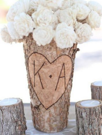 Personalized Wood Flower Vase