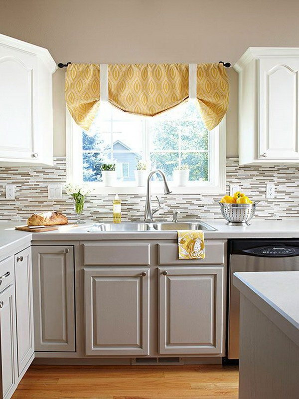 Dusty Gray And White Kitchen Cabinets