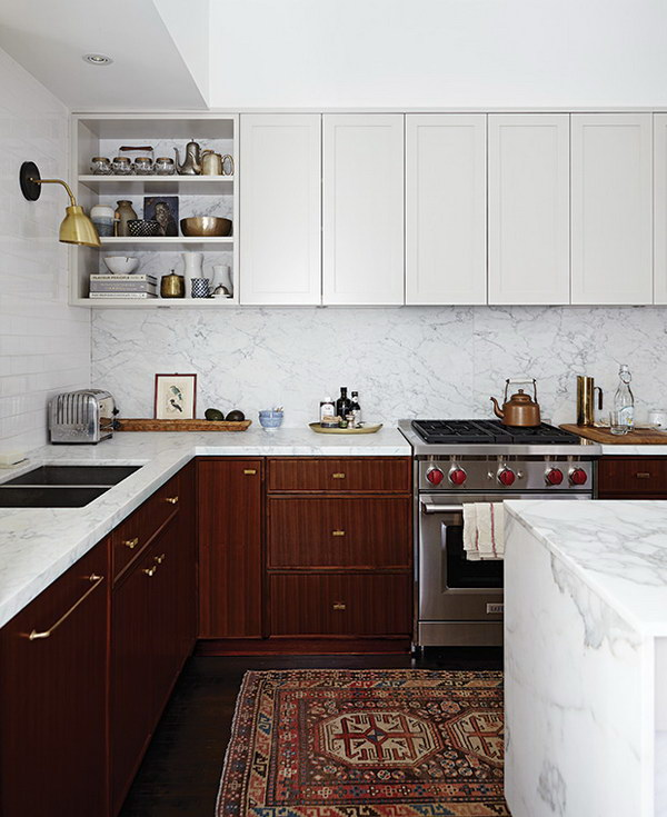 2 tone kitchen cabinets stylish two tone kitchen cabinets for your inspiration 3822