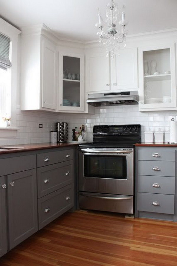stylish two tone kitchen cabinets for your inspiration ForKitchen Cabinets 2 Tone