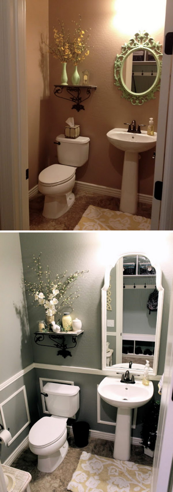 cheap small bathroom makeovers before and after 20 awesome bathroom makeovers hative 17718