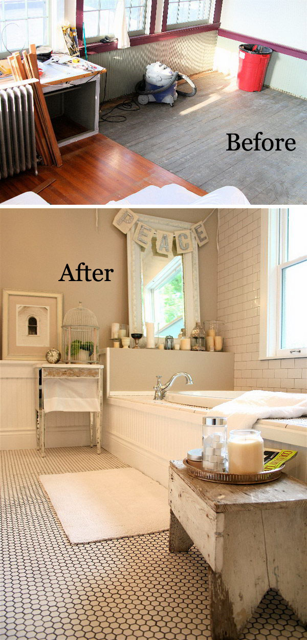 Beautiful And Peaceful Bathroom Makeover.