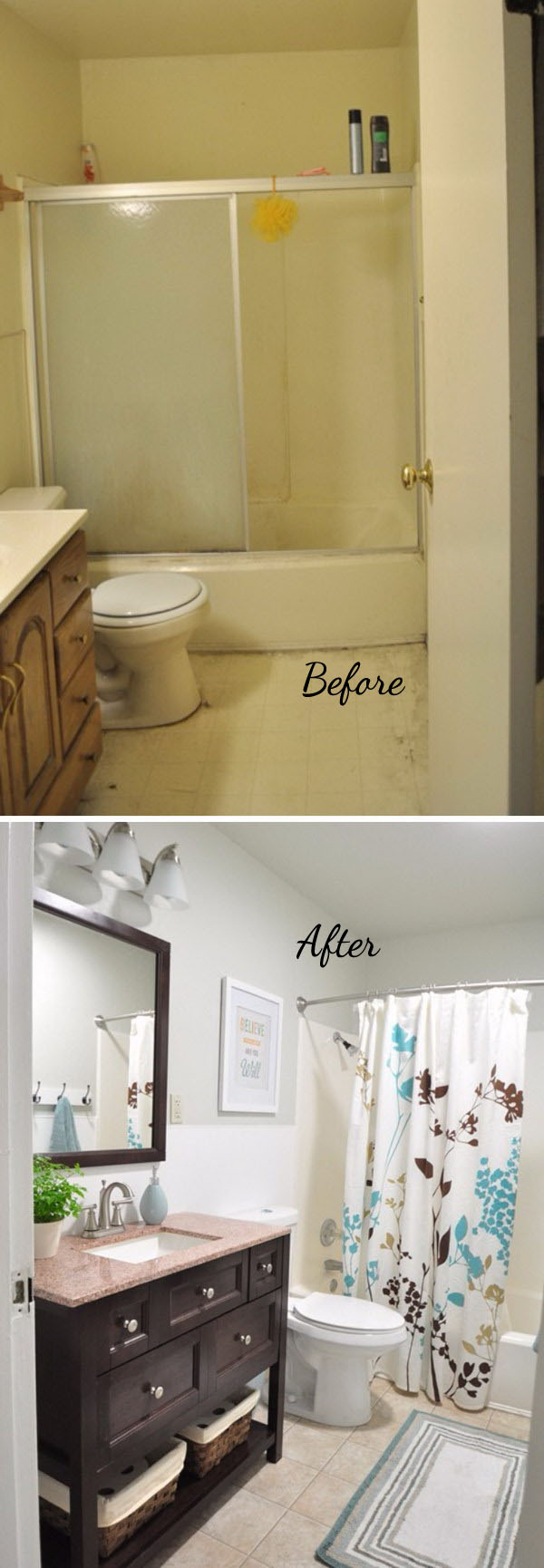 Bathroom Before And After before and after: 20+ awesome bathroom makeovers - hative
