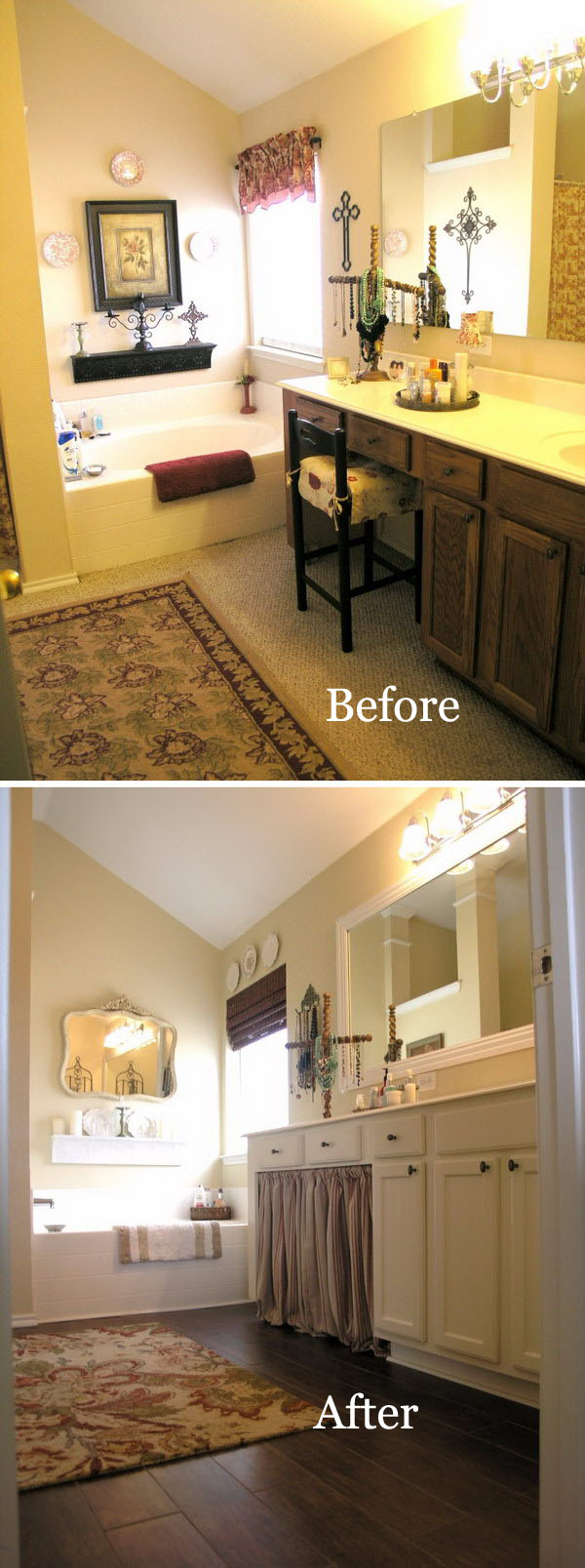Before And After Awesome Bathroom Makeovers Hative - Master bathroom remodel before and after
