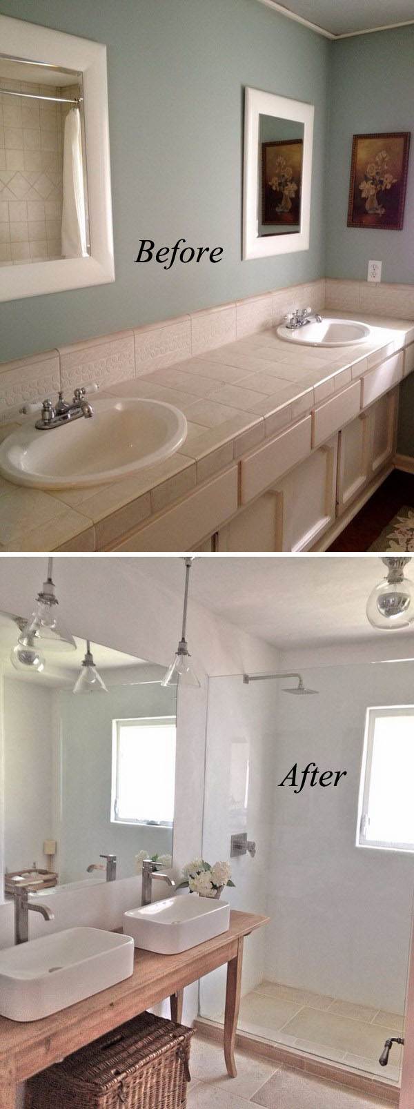 Clean and crisp bathroom renovation