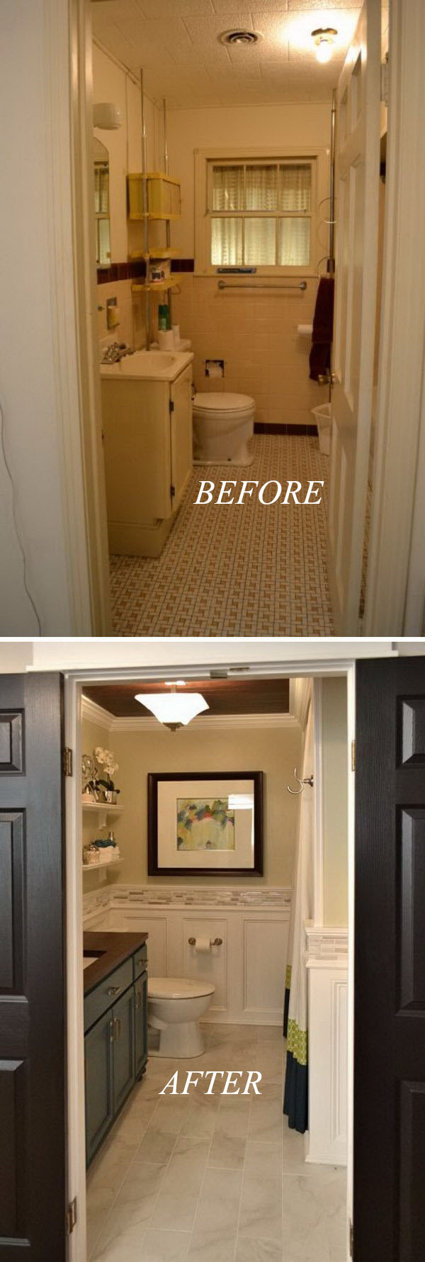 before and after 20 awesome bathroom makeovers hative. Black Bedroom Furniture Sets. Home Design Ideas