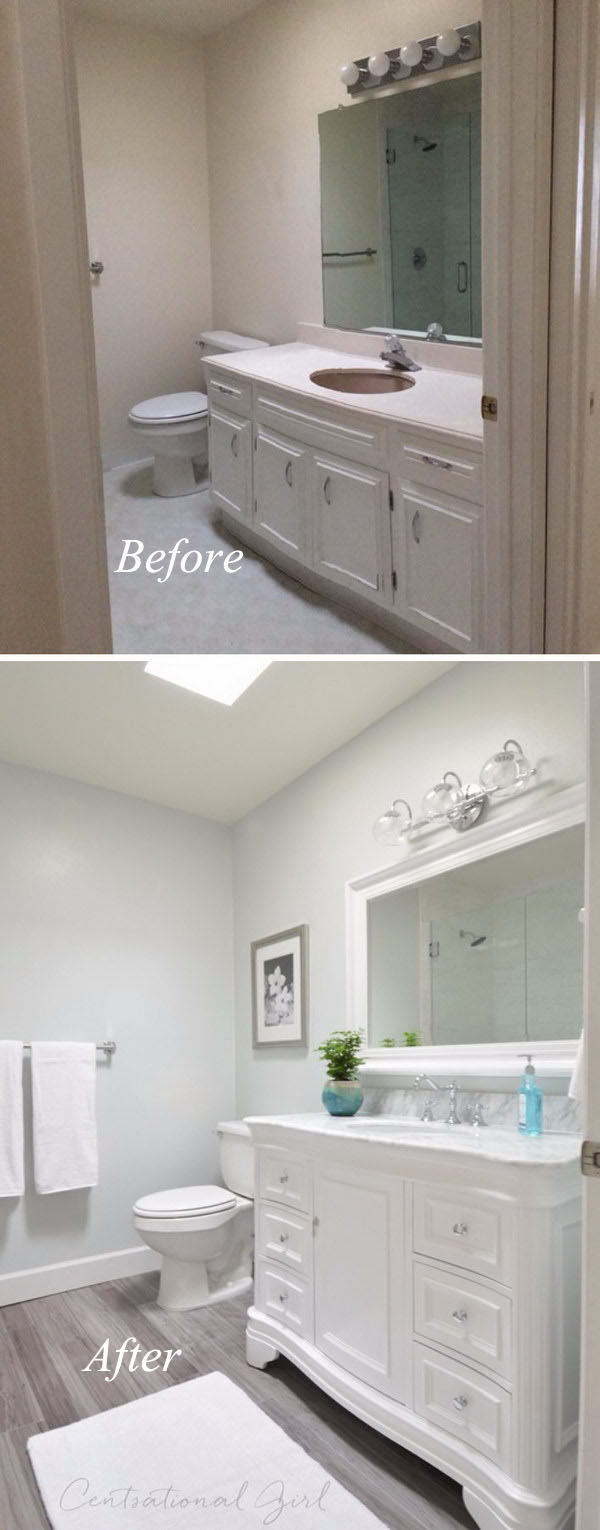 Peachy Before And After 20 Awesome Bathroom Makeovers Hative Best Image Libraries Thycampuscom