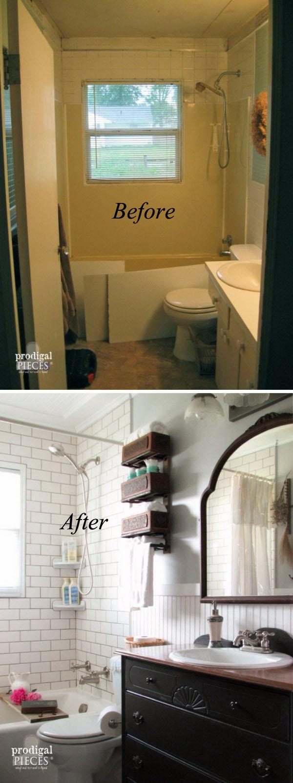 Farmhouse Bathroom Remodel.