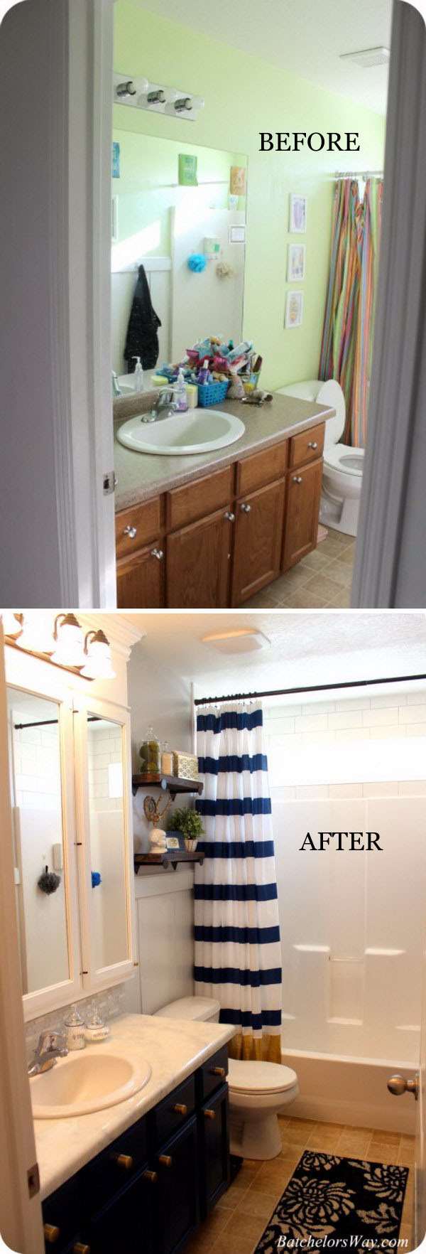 Crisp Modern Bathroom Remodel on a Budget.