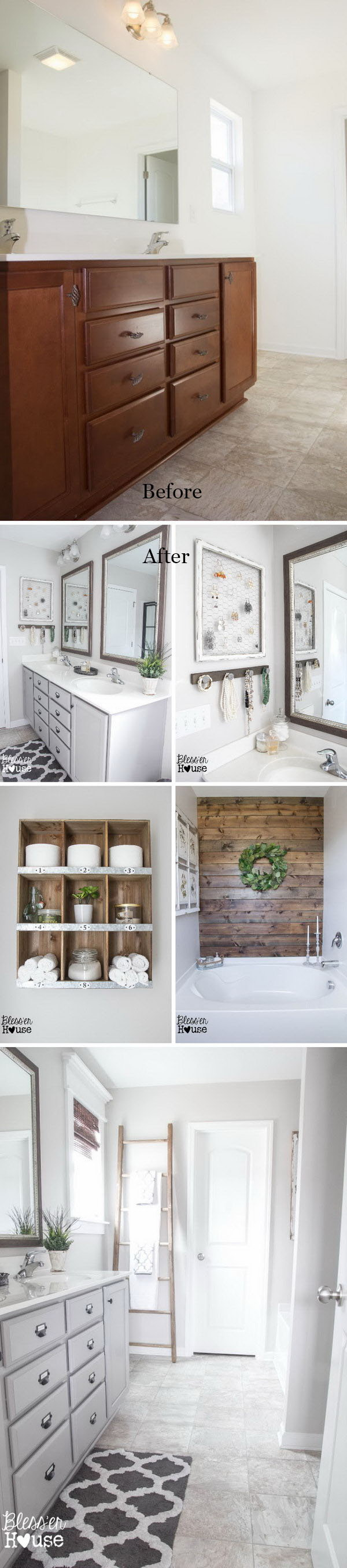 Before And After Awesome Bathroom Makeovers Hative - Budget bathroom remodel before and after