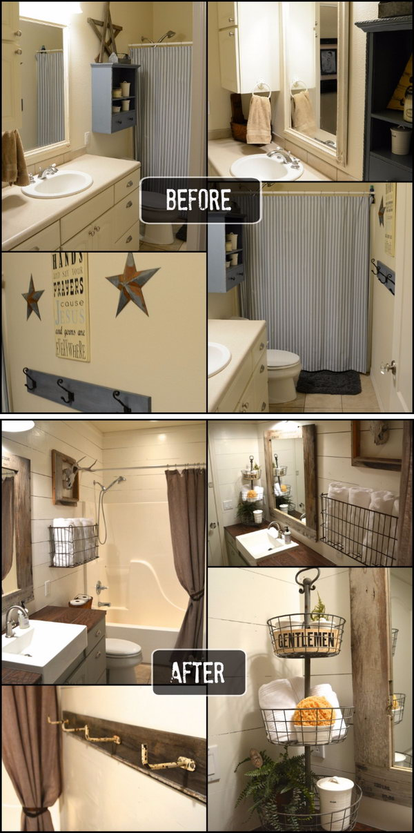 Remarkable Before And After 20 Awesome Bathroom Makeovers Hative Download Free Architecture Designs Pushbritishbridgeorg